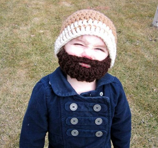 Kid with a beard